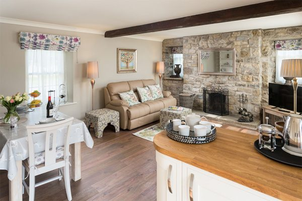 Image of the living room at Coxwold Cottage