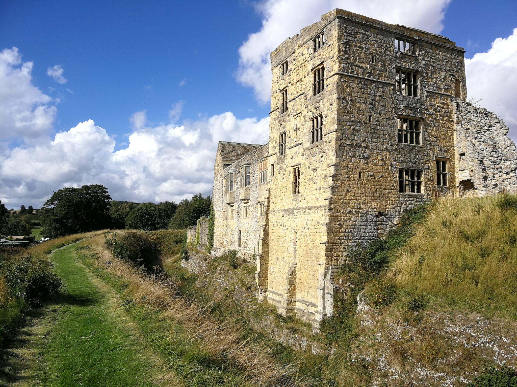 Autumn sunshine at Helmsley Castle near Coxwold