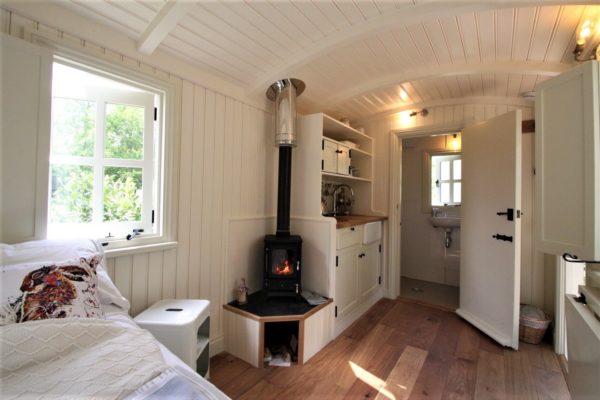 Inside a typical Shepherd's Hut