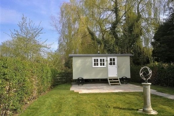The new Shepherd's Hut at Coxwold Cottages