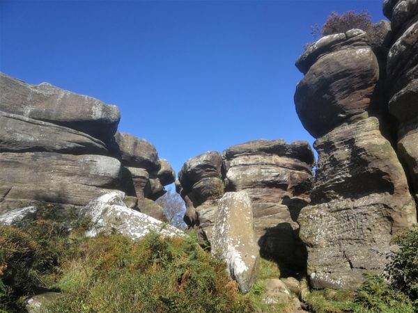 Amazing rock formations at Brimham Rocks