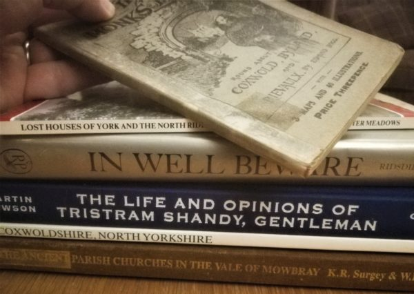 Books from our Coxwold reading list, including Tristram Shandy!