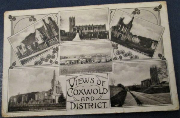 Old multi view postcard of Coxwold and district