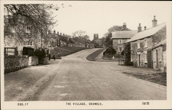 Looking up the hill at Coxwold crossroads - The Forge is on the right