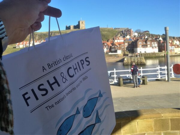 Whitby Fish and Chips. Just an hour from Coxwold Cottages!