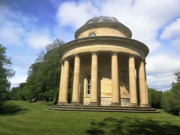 The recently-restored Tuscan Temple at Duncombe