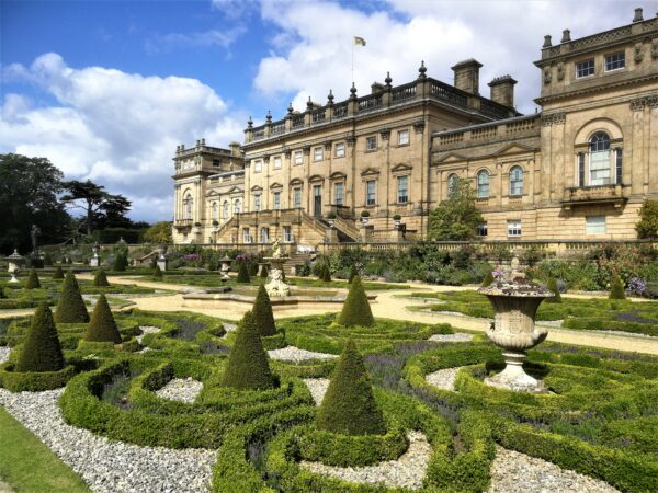 The iconic view of Harewood House - just 45 minutes from Coxwold Cottages