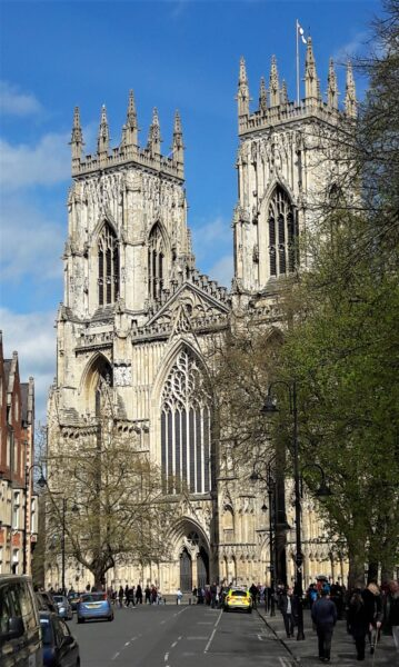 York Minster. Is this the UK's best view from a Park & Ride bus stop.
