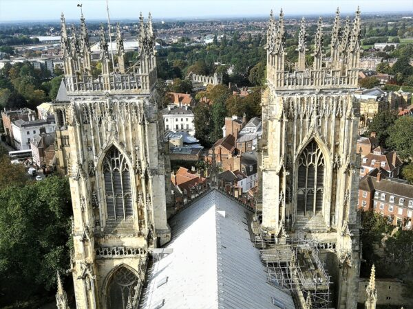 View from the top of York Minster - can you see Coxwold Cottages?