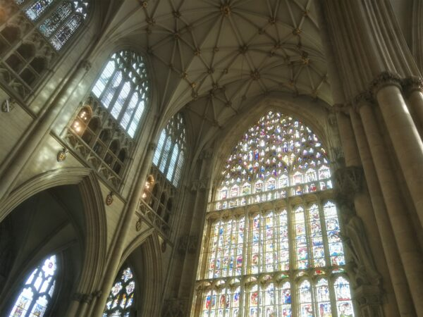 York Minster boasts the largest expanse of medieval stained glass in the world